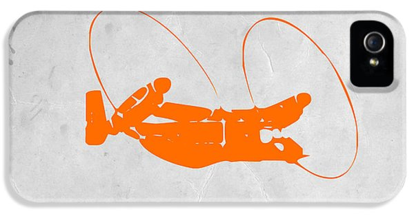 Mid iPhone 5 Cases - Orange Plane iPhone 5 Case by Naxart Studio