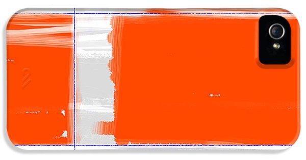 Expressive iPhone 5 Cases - Orange Rectangle iPhone 5 Case by Naxart Studio