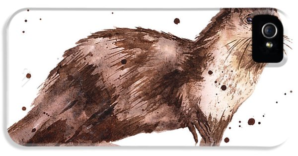 Otter Painting IPhone 5 / 5s Case by Alison Fennell