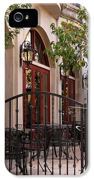 Ristorante iPhone 5 Cases - Outdoor Restaurant iPhone 5 Case by James Eddy