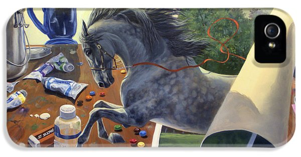 Equine iPhone 5 Cases - Over The Edge iPhone 5 Case by Jeanne Newton Schoborg