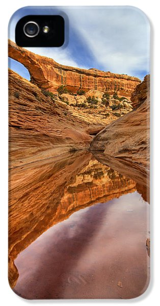 National Monuments iPhone 5 Cases - Owachomo Reflected iPhone 5 Case by Mike  Dawson