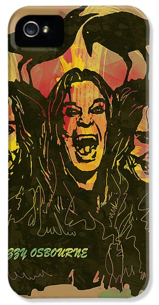 Ozzy Osbourne Pop Stylised Art Poster IPhone 5 / 5s Case by Kim Wang