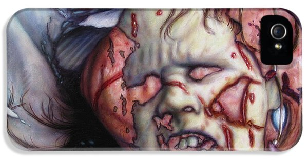 Halloween iPhone 5 Cases - Pain iPhone 5 Case by James W Johnson