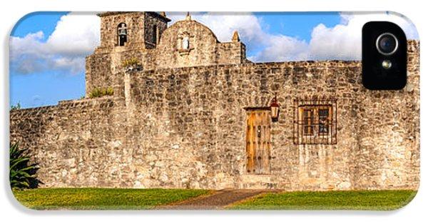 Ignacio iPhone 5 Cases - Panorama of Presidio La Bahia Museum and Loreto Chapel in Goliad - Texas Coastal Bend iPhone 5 Case by Silvio Ligutti