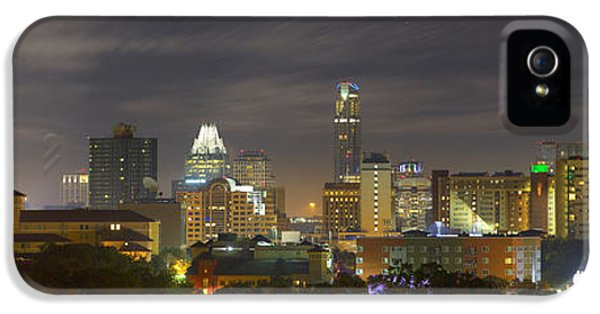 Panorama Of The Austin Skyline On A September Morning IPhone 5 / 5s Case by Rob Greebon