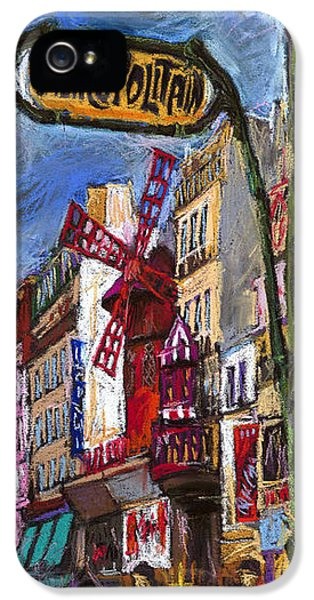 France iPhone 5 Cases - Paris Mulen Rouge iPhone 5 Case by Yuriy  Shevchuk