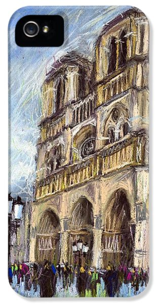 Paris Notre-dame De Paris IPhone 5 / 5s Case by Yuriy  Shevchuk
