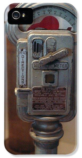 National Museum Of America History iPhone 5 Cases - Parking Meter Change iPhone 5 Case by LeeAnn McLaneGoetz McLaneGoetzStudioLLCcom