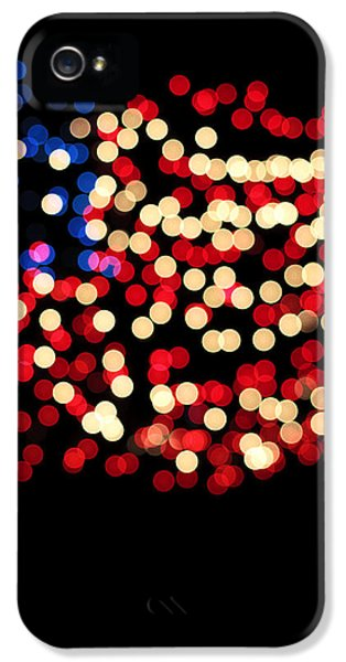 4th July iPhone 5 Cases - Party Lights In The Shape iPhone 5 Case by Gillham Studios