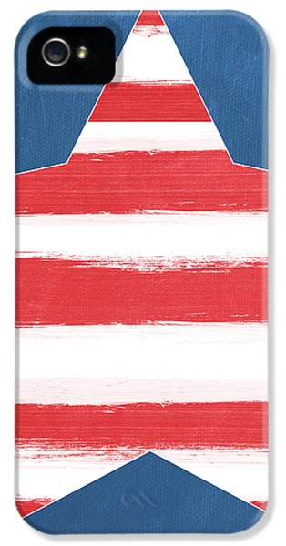 Patriotic Star IPhone 5 / 5s Case by Linda Woods