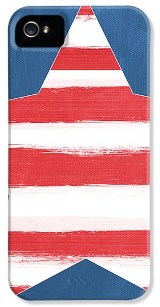 July 4th iPhone 5 Cases - Patriotic Star iPhone 5 Case by Linda Woods