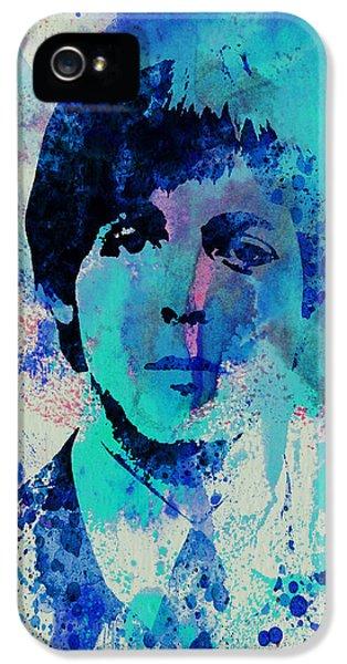 British iPhone 5 Cases - Paul McCartney iPhone 5 Case by Naxart Studio