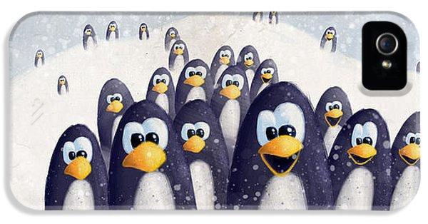 Penguin Winter IPhone 5 / 5s Case by David Breeding