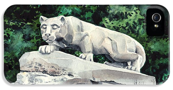 Penn State Nittany Lion Shrine University Happy Valley Joe Paterno IPhone 5 / 5s Case by Laura Row