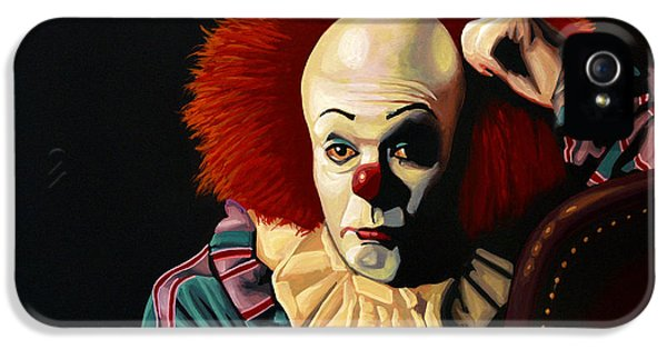 Monster iPhone 5 Cases - Pennywise iPhone 5 Case by Paul Meijering
