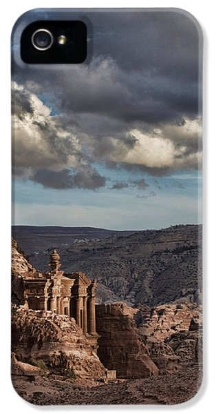 Al-khazneh iPhone 5 Cases - Petra  iPhone 5 Case by Jos Mosis