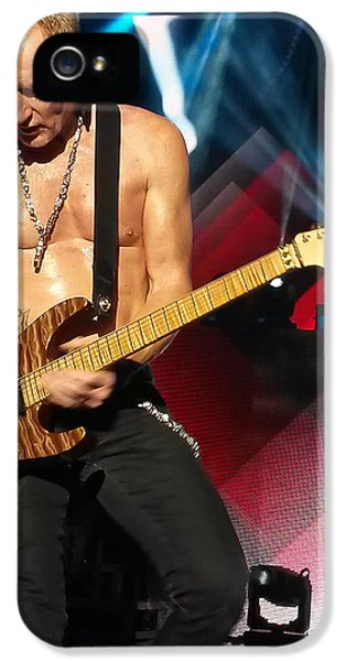 Phil Collen Of Def Leppard 2 IPhone 5 / 5s Case by David Patterson