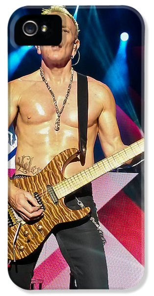 Phil Collen Of Def Leppard 5 IPhone 5 / 5s Case by David Patterson