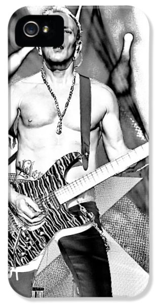 Phil Collen With Def Leppard IPhone 5 / 5s Case by David Patterson