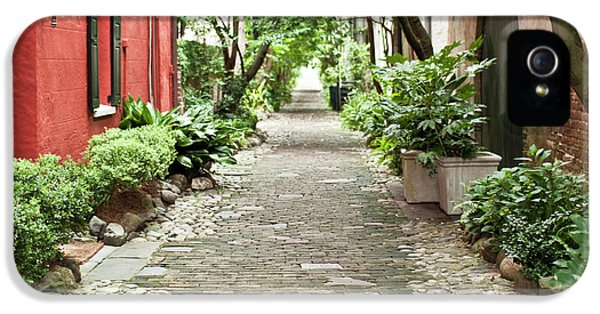 Philadelphia iPhone 5 Cases - Philadelphia Alley Charleston Pathway iPhone 5 Case by Dustin K Ryan