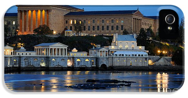Philadelphia iPhone 5 Cases - Philadelphia Art Museum and Fairmount Water Works iPhone 5 Case by Gary Whitton