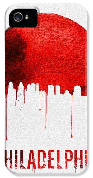 Philadelphia Skyline Redskyline Red IPhone 5 / 5s Case by Naxart Studio