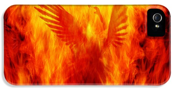 Burnt iPhone 5 Cases - Phoenix Rising iPhone 5 Case by Andrew Paranavitana
