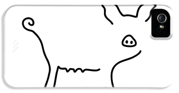 Pig Piglet Make A Mess IPhone 5 / 5s Case by Lineamentum