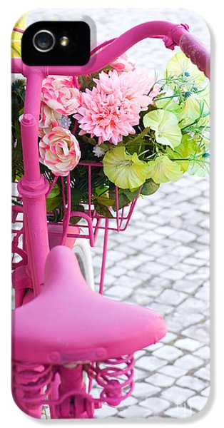 Pink Flowers iPhone 5 Cases - Pink Bike iPhone 5 Case by Carlos Caetano