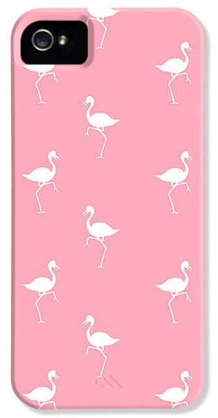 Flamingo iPhone 5 Cases - Pink Flamingos Pattern iPhone 5 Case by Christina Rollo
