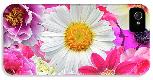 Pink Flowers  IPhone 5 / 5s Case by Gloria Sanchez
