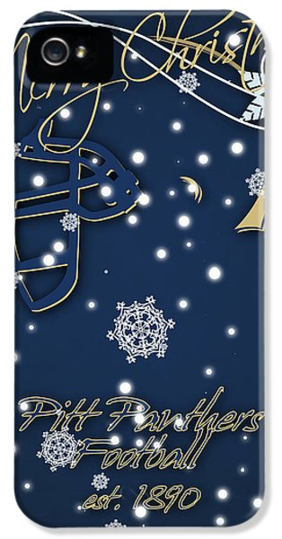 Pitt Panthers Christmas Cards IPhone 5 / 5s Case by Joe Hamilton