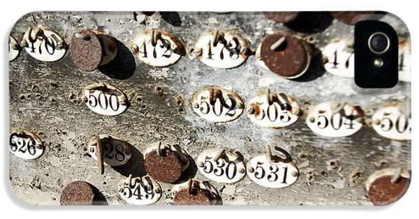 Decay iPhone 5 Cases - Plates with Numbers iPhone 5 Case by Carlos Caetano