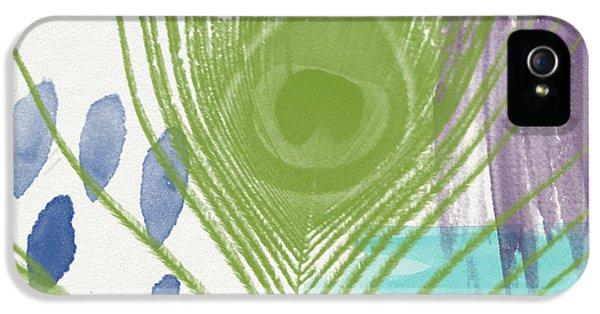 Plumage 4- Art By Linda Woods IPhone 5 / 5s Case by Linda Woods