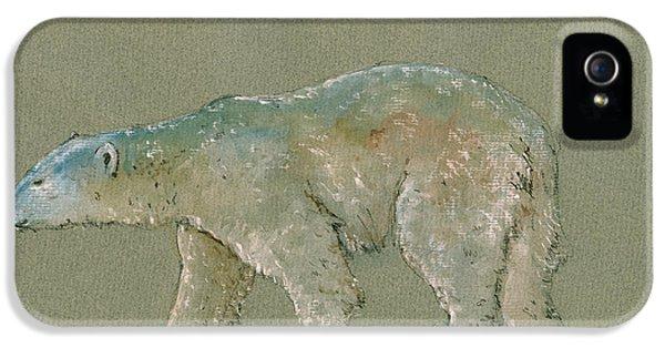 Polar Bear Original Watercolor Painting Art IPhone 5 / 5s Case by Juan  Bosco