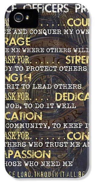 Badge iPhone 5 Cases - Police Officers Prayer iPhone 5 Case by Debbie DeWitt