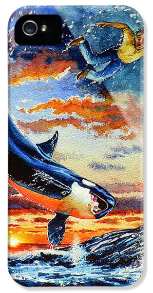 Whale iPhone 5 Cases - Pooka Hill 12 iPhone 5 Case by Hanne Lore Koehler