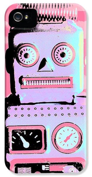 Pop Art Poster Robot IPhone 5 / 5s Case by Jorgo Photography - Wall Art Gallery