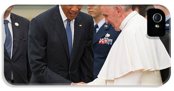 Pope Francis And President Obama IPhone 5 / 5s Case by Mountain Dreams