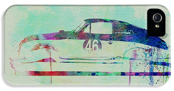 German Classic Cars iPhone 5 Cases - Porsche 356 Watercolor iPhone 5 Case by Naxart Studio
