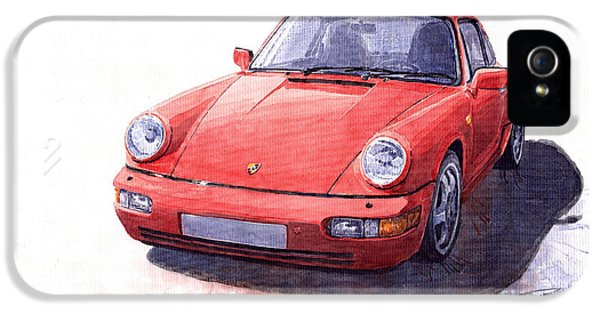 Porsche 911 iPhone 5 Cases - Porsche 911 Carrera 2 1990 iPhone 5 Case by Yuriy  Shevchuk