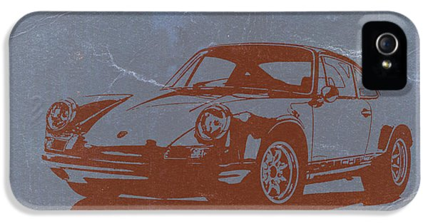 German Classic Cars iPhone 5 Cases - Porsche 911 iPhone 5 Case by Naxart Studio