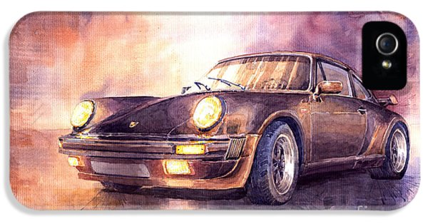 Vintage Car iPhone 5 Cases - Porsche 911 Turbo 1979 iPhone 5 Case by Yuriy  Shevchuk