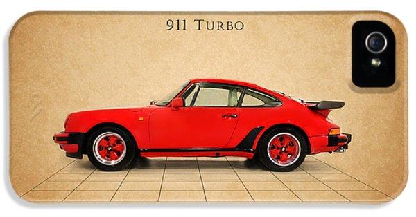 Classic Porsche 911 iPhone 5 Cases - Porsche 911 Turbo 1985 iPhone 5 Case by Mark Rogan