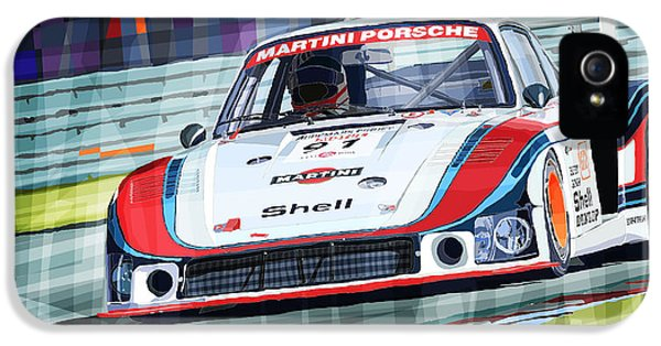Porsche 935 Coupe Moby Dick Martini Racing Team IPhone 5 / 5s Case by Yuriy  Shevchuk