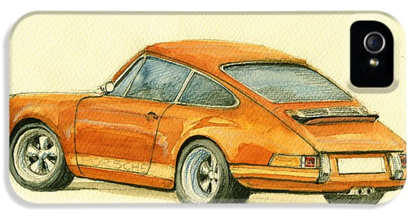 Classic Porsche 911 iPhone 5 Cases - Porsche classic art 911 iPhone 5 Case by Juan  Bosco
