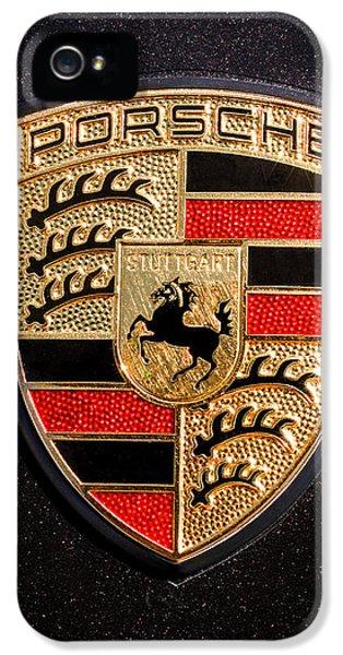 Sport iPhone 5 Cases - Porsche Emblem -211C iPhone 5 Case by Jill Reger