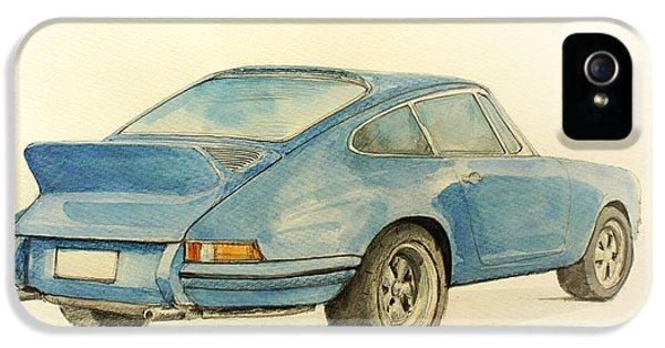 Classic Porsche 911 iPhone 5 Cases - Porsche Rs iPhone 5 Case by Juan  Bosco