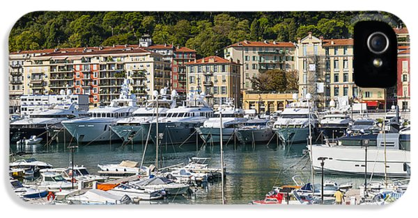 Harborfront iPhone 5 Cases - Port of Nice iPhone 5 Case by Elena Elisseeva